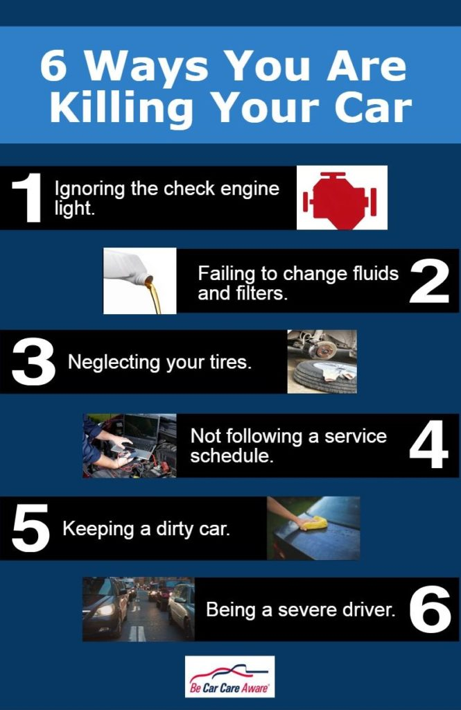 Six Ways You Could be Killing Your Car